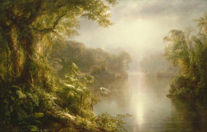 El Rio De Luz (1887) by Frederic Edwin Church