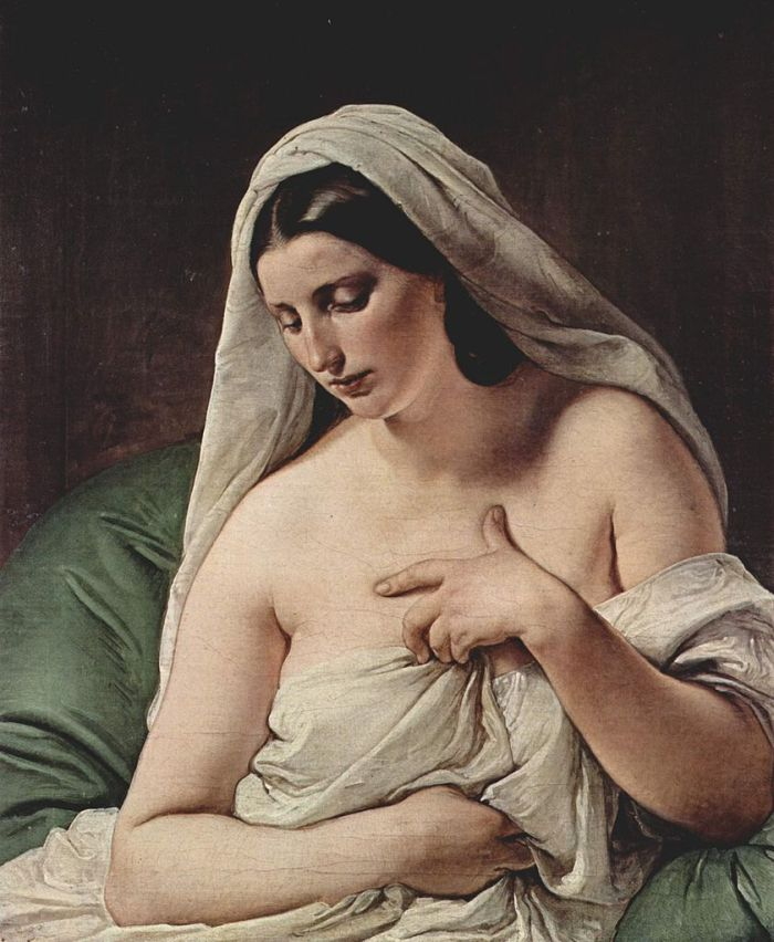 Odalisque (1867) by Francesco Hayez