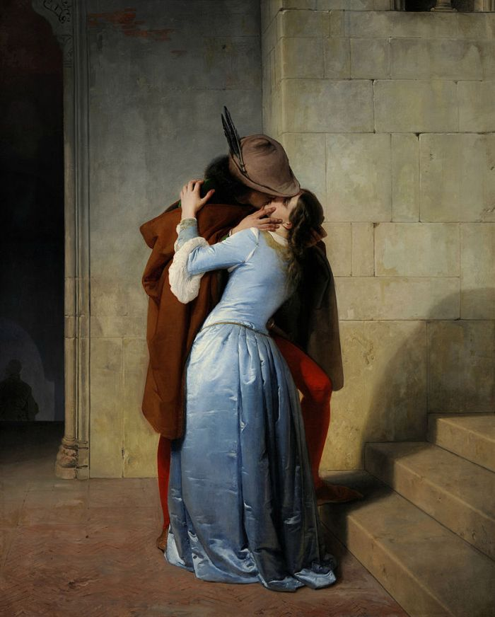 The Kiss (1859) by Francesco Hayez