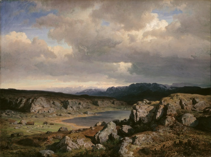 Norwegian Highlands (1857) by Hans Gude