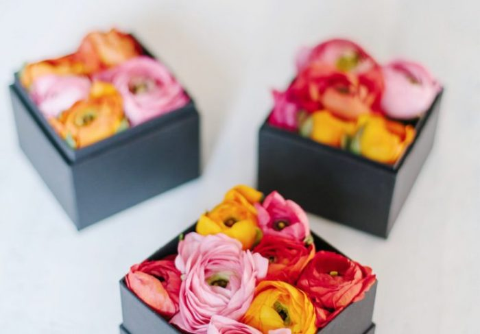 DIY Boxed Flower by A Pair & A Spare