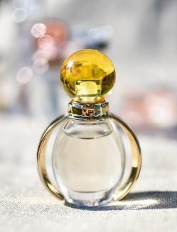 perfume bottle, etiquette from balissande finishing school
