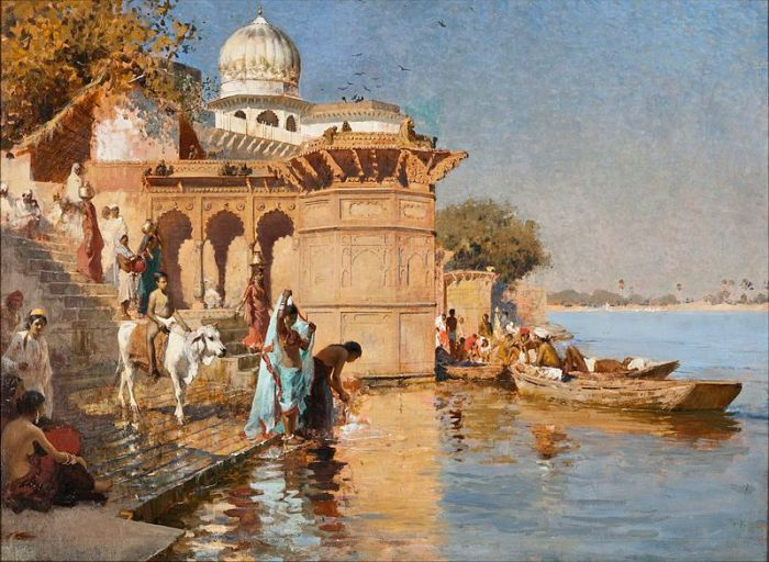 Along the Ghats of Mathura by Edwin Lord Weeks (1883)