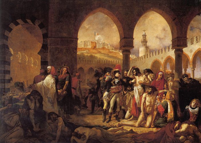 Antoine-Jean Gros, Napoleon in the Plague House at Jaffa, 1804
