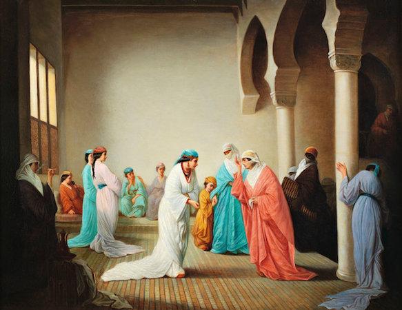 Henriette Browne, A Visit: Harem Interior, Constantinople, 1860,