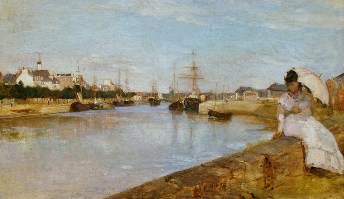 The Harbour at Lorient by Berthe Morisot (1869)