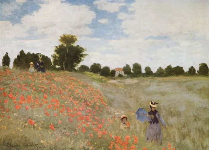 Les Coquelicots by Claude Monet (1873)