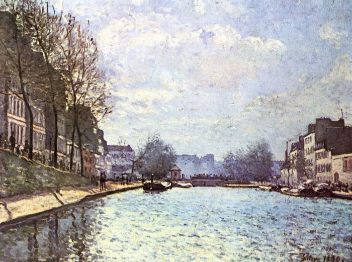 Alfred Sisley, View of the Saint-Martin Canal, Paris, 1870,