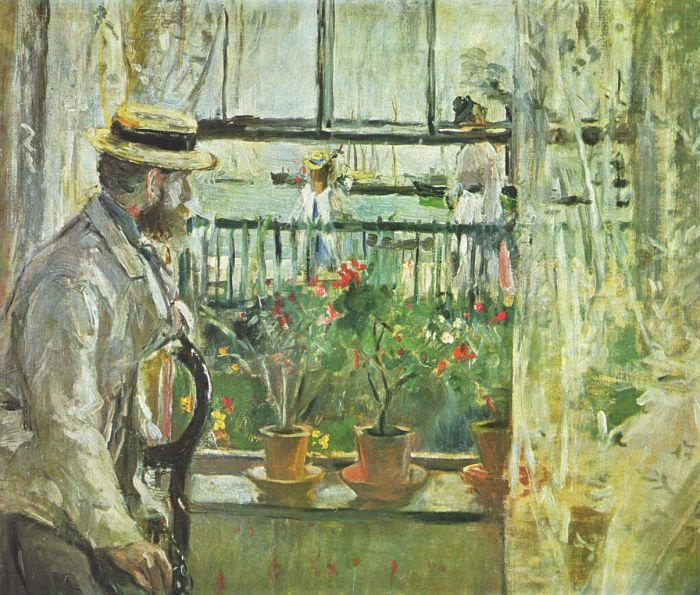 Eugène Manet on the Isle of Wight by Berthe Morisot (1875)