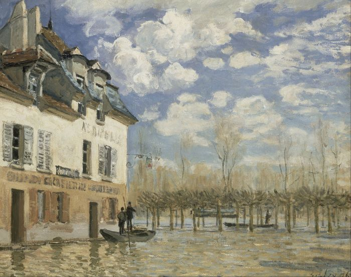 Flood at Port-Marly by Alfred Sisley (1876)