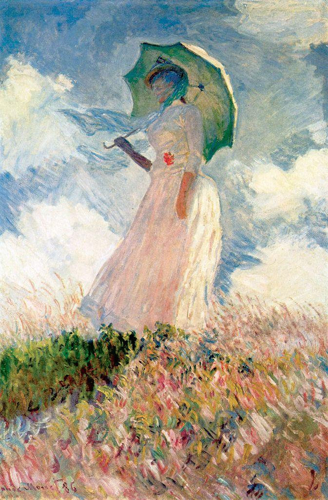 Femme à l'ombrelle tournée vers la gauche by Claude Monet (1886)