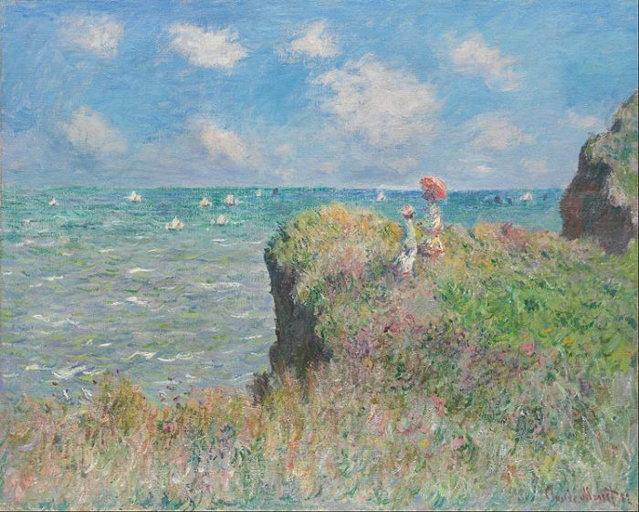 Claude Monet - Cliff Walk at Pourville