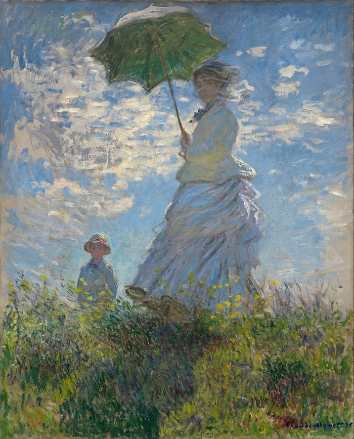 Claude Monet, Woman with a Parasol - Madame Monet and Her Son (Camille and Jean Monet), 1875,