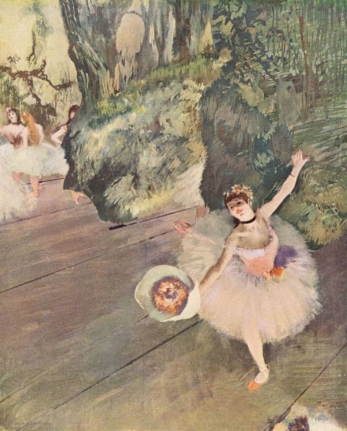 Dancer with a Bouquet of Flowers (Star of the Ballet) by Edgar Degas (1878)