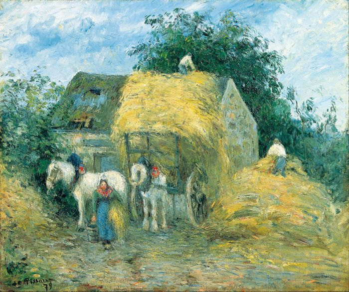 The Hay Cart, Montfoucault by Camille Pissarro (1879)