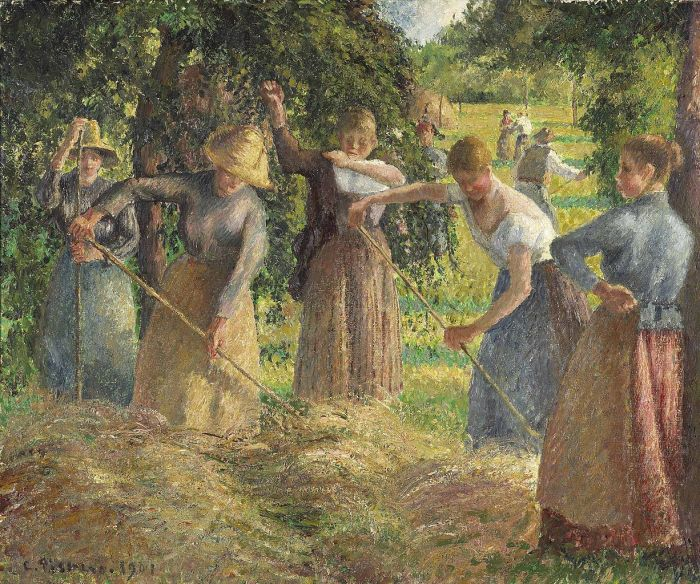 Camille Pissarro, Hay Harvest at Éragny, 1901