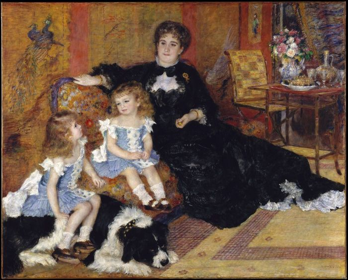 Mme. Charpentier and her children by Paul Renoir (1878)