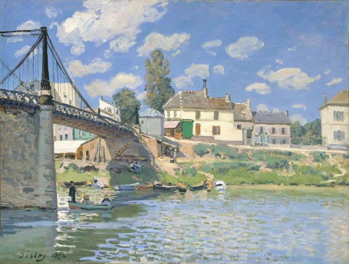 Alfred Sisley, Bridge at Villeneuve-la-Garenne, 1872