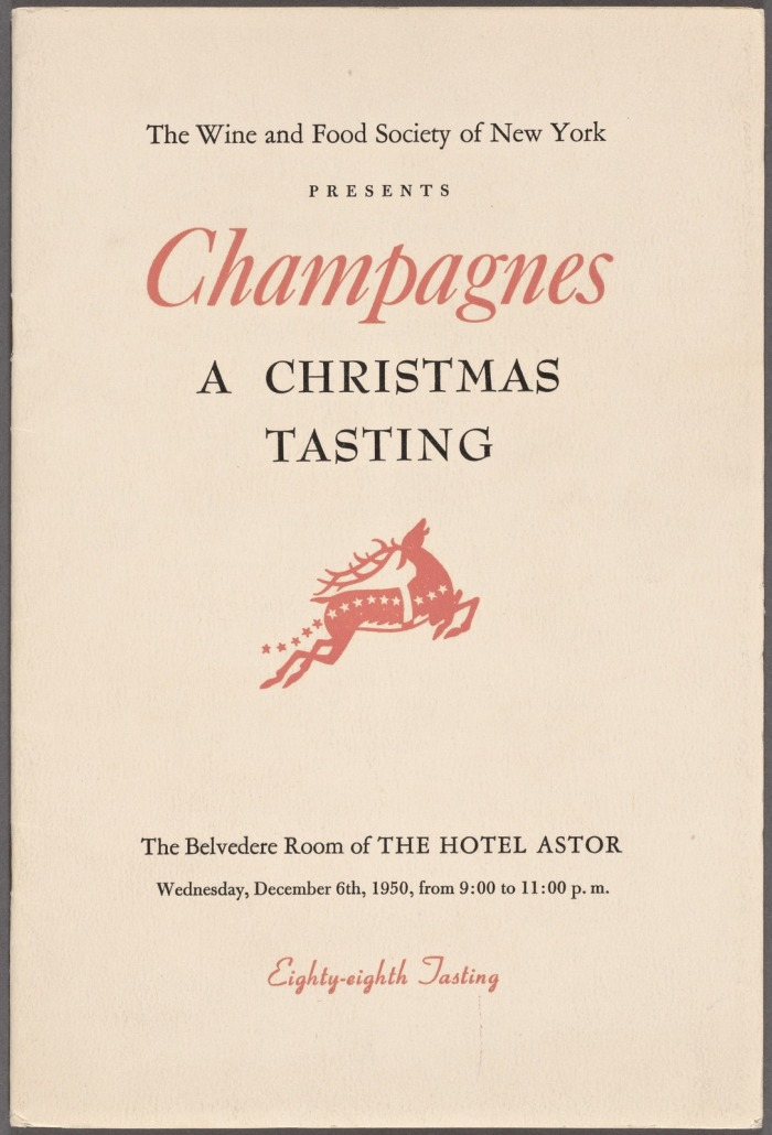 VINTAGE CHRISTMAS / WINTER HOLIDAY WINE TASTING MENU