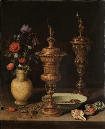 Still Life with Flowers and Gold Cups of Honor by Clara Peeters, 1612