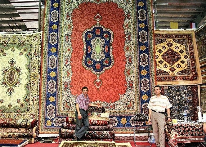 An Iranian/Persian carpet exhibition in city of Hamadan in 2015.